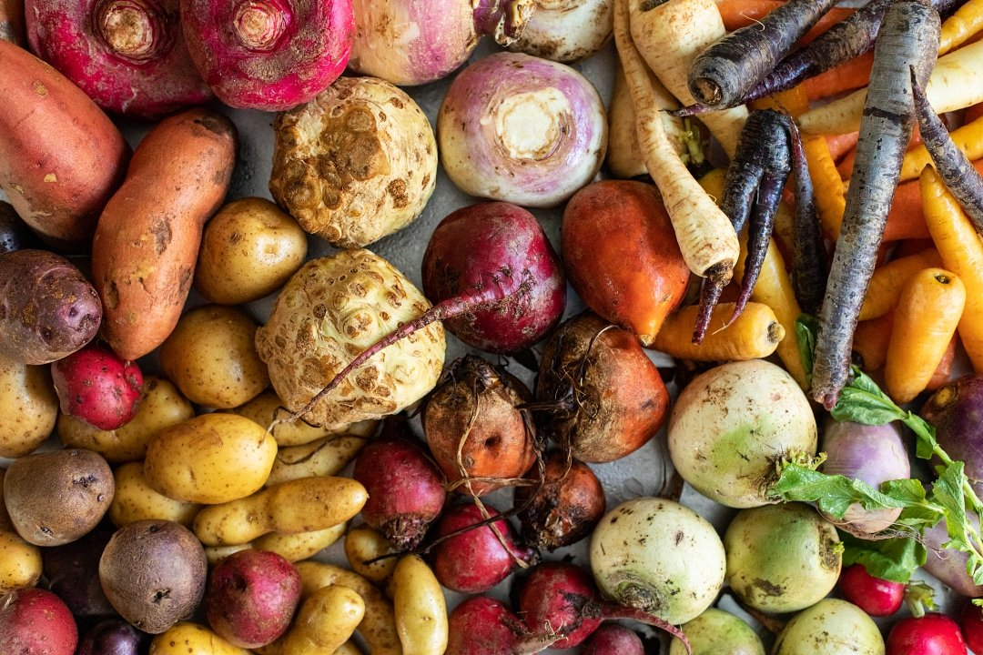 Root vegetables tray