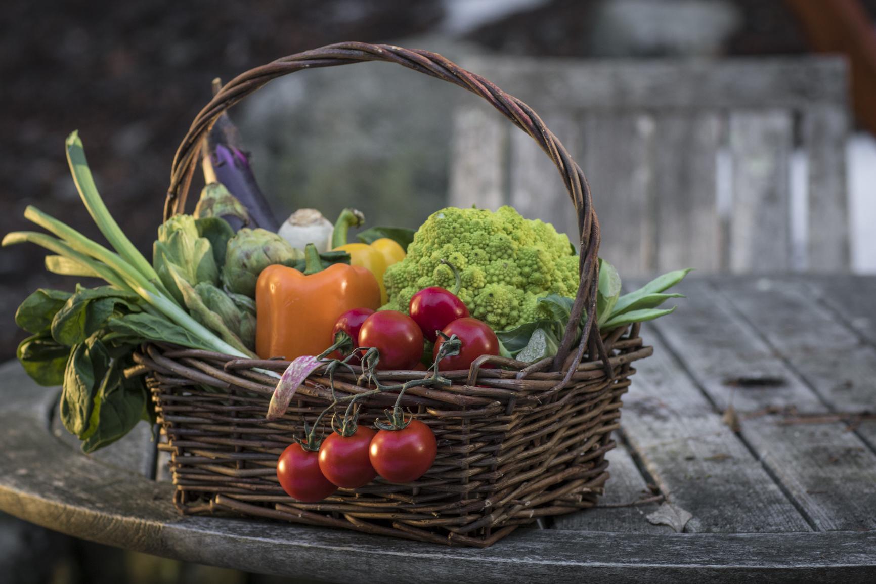 Whole foods vegetables basket